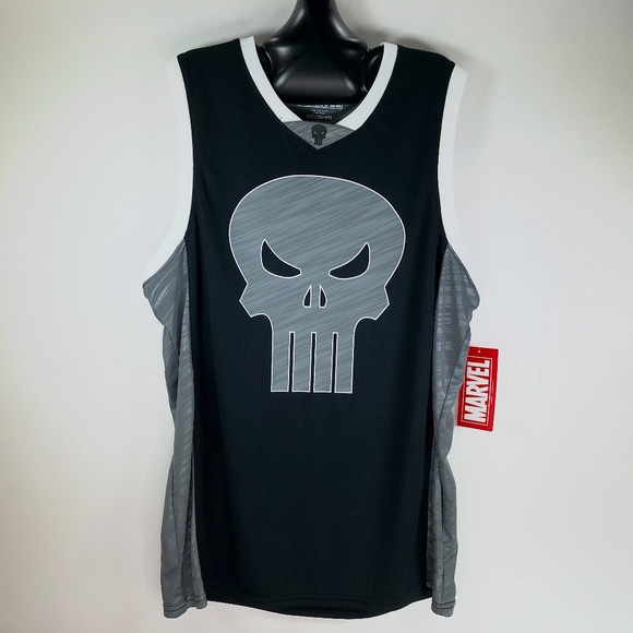 5a7cdec74b024 The Punisher Skull 74 Marvel Comics Logo Jersey M